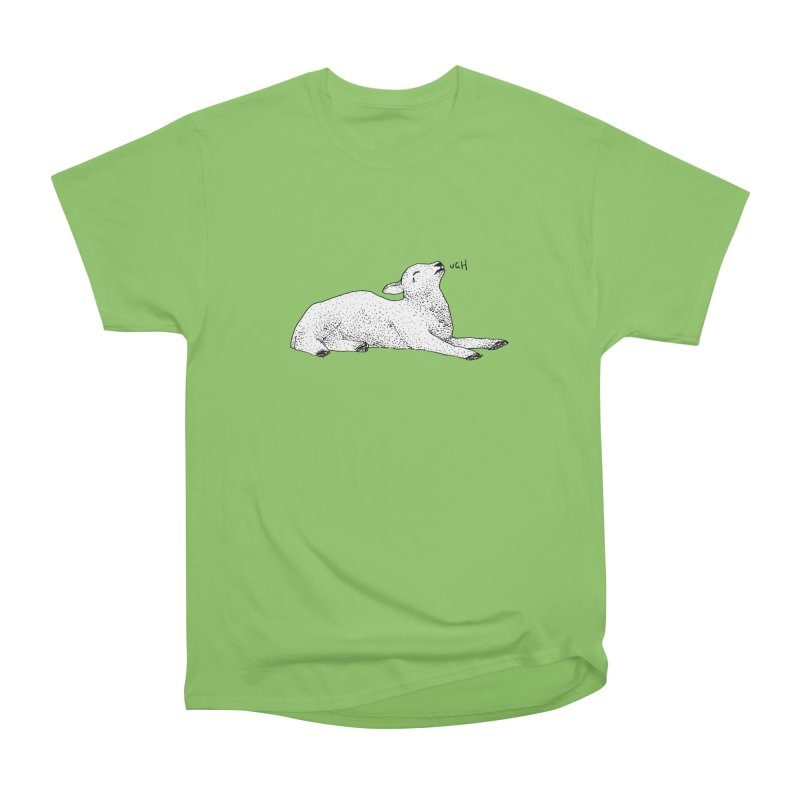 Exasperated Lamb Men's Heavyweight T-Shirt by Martina Scott's Shop
