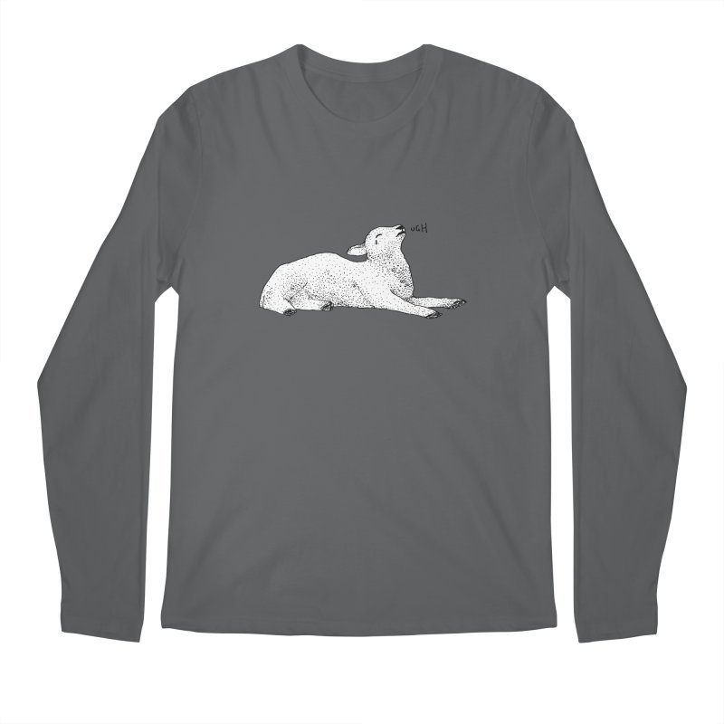 Exasperated Lamb Men's Longsleeve T-Shirt by Martina Scott's Shop