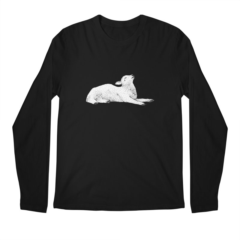Exasperated Lamb Men's Regular Longsleeve T-Shirt by Martina Scott's Shop