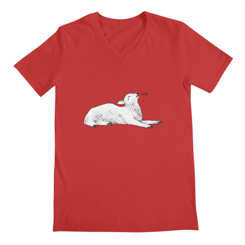 Exasperated Lamb Men's V-Neck by Martina Scott's Shop