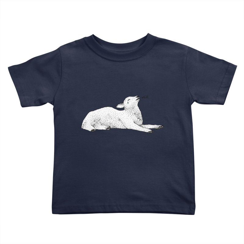 Exasperated Lamb Kids Toddler T-Shirt by Martina Scott's Shop
