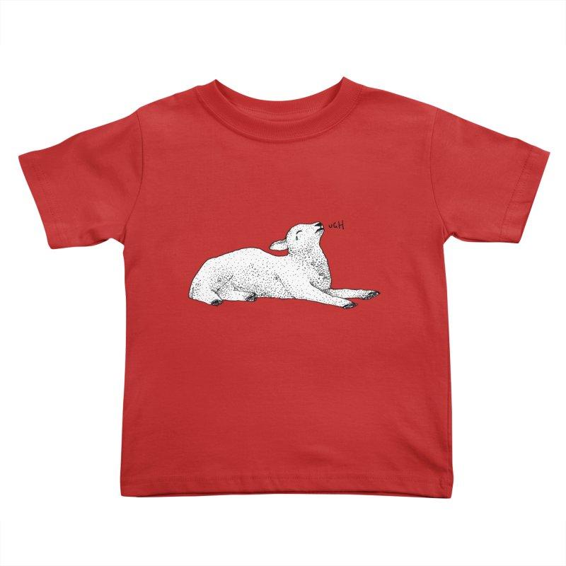 Exasperated Lamb Kids Toddler T-Shirt by Martina Scott's Shop