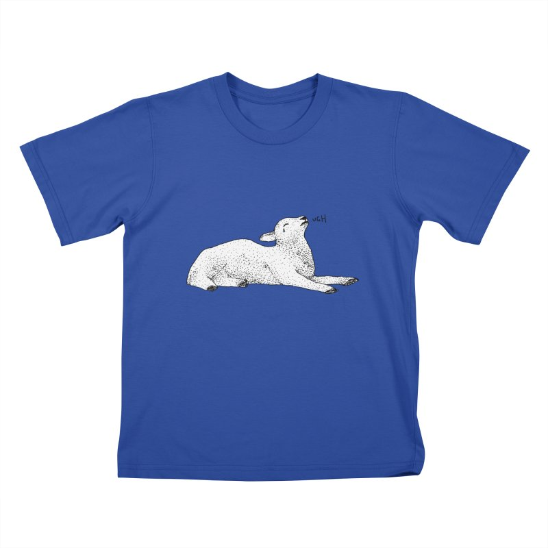Exasperated Lamb Kids T-Shirt by Martina Scott's Shop