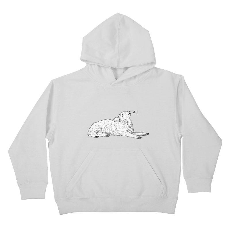 Exasperated Lamb Kids Pullover Hoody by Martina Scott's Shop