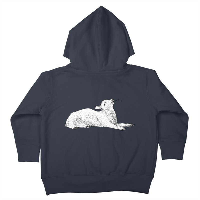 Exasperated Lamb Kids Toddler Zip-Up Hoody by Martina Scott's Shop
