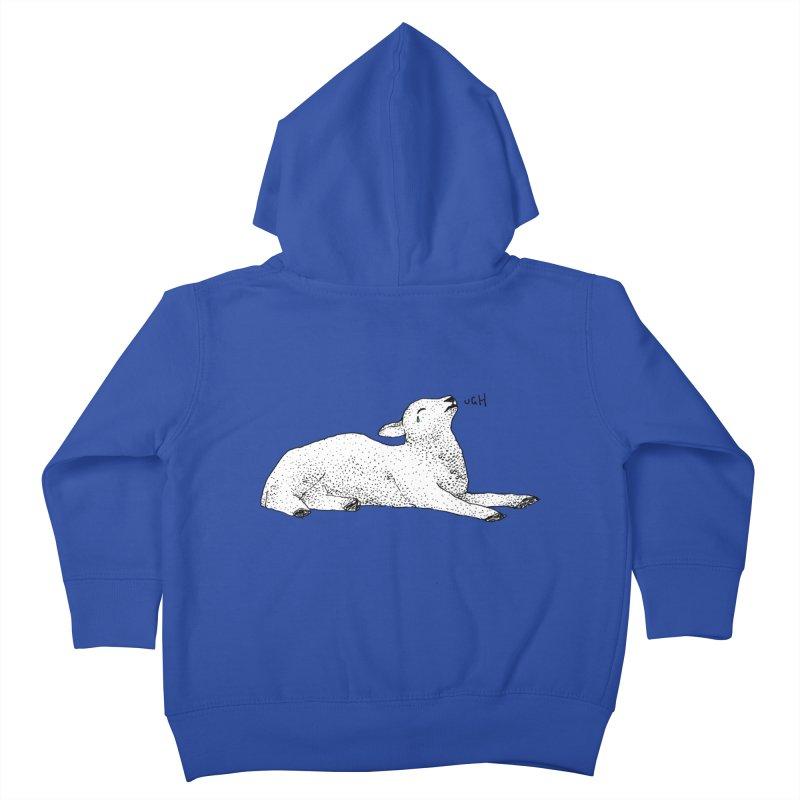 Exasperated Lamb Kids Toddler Zip-Up Hoody by Martina Scott's Shop