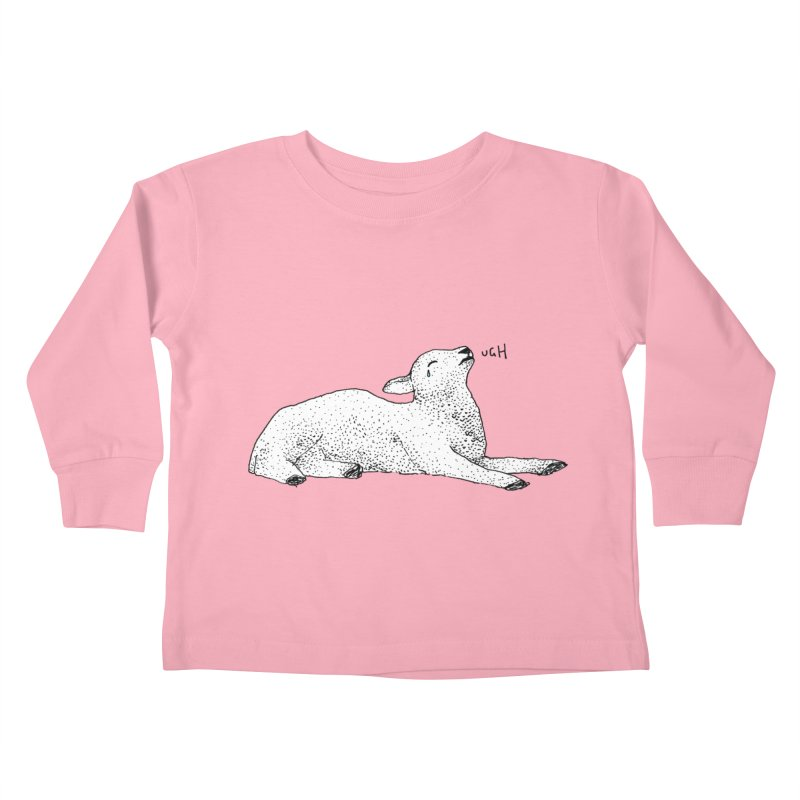 Exasperated Lamb Kids Toddler Longsleeve T-Shirt by Martina Scott's Shop