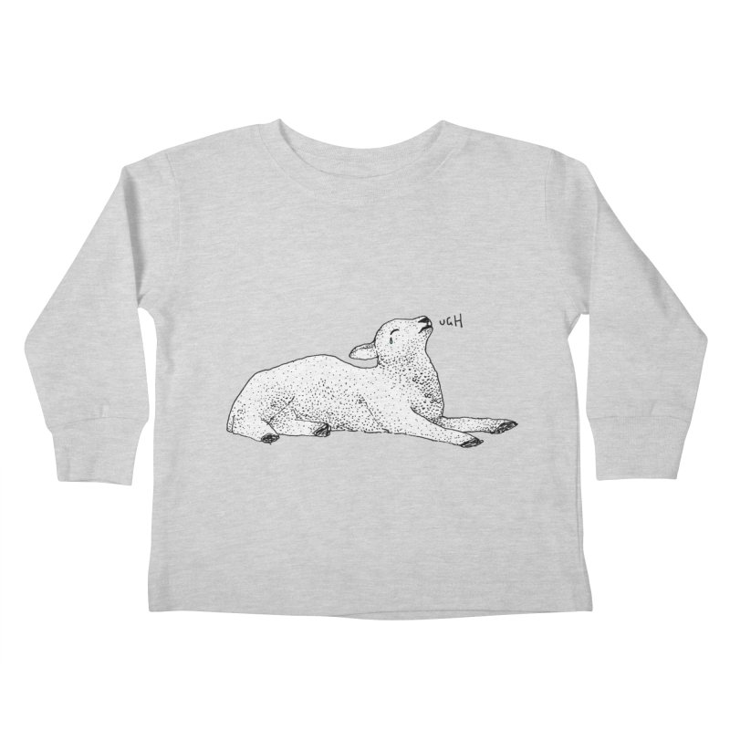 Exasperated Lamb Kids Toddler Longsleeve T-Shirt by Martina Scott's Shop