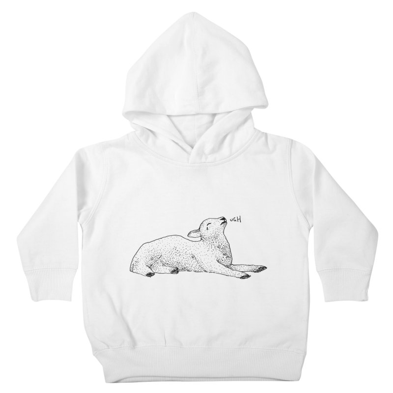 Exasperated Lamb Kids Toddler Pullover Hoody by Martina Scott's Shop