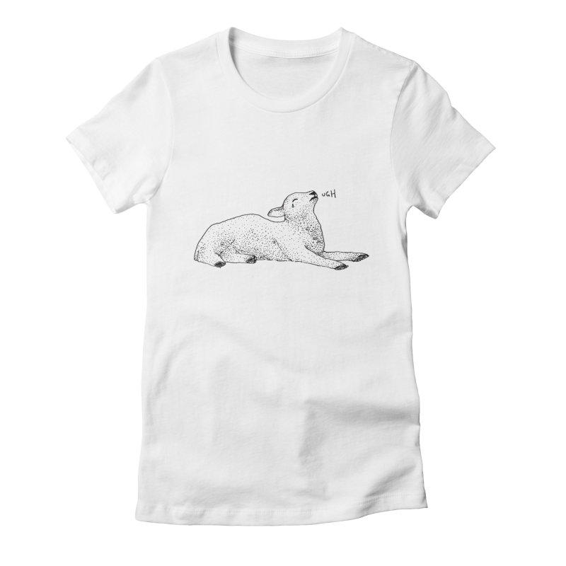Exasperated Lamb Women's Fitted T-Shirt by Martina Scott's Shop