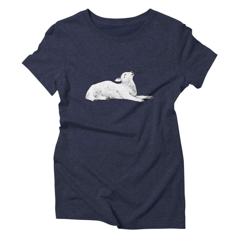 Exasperated Lamb Women's Triblend T-Shirt by Martina Scott's Shop