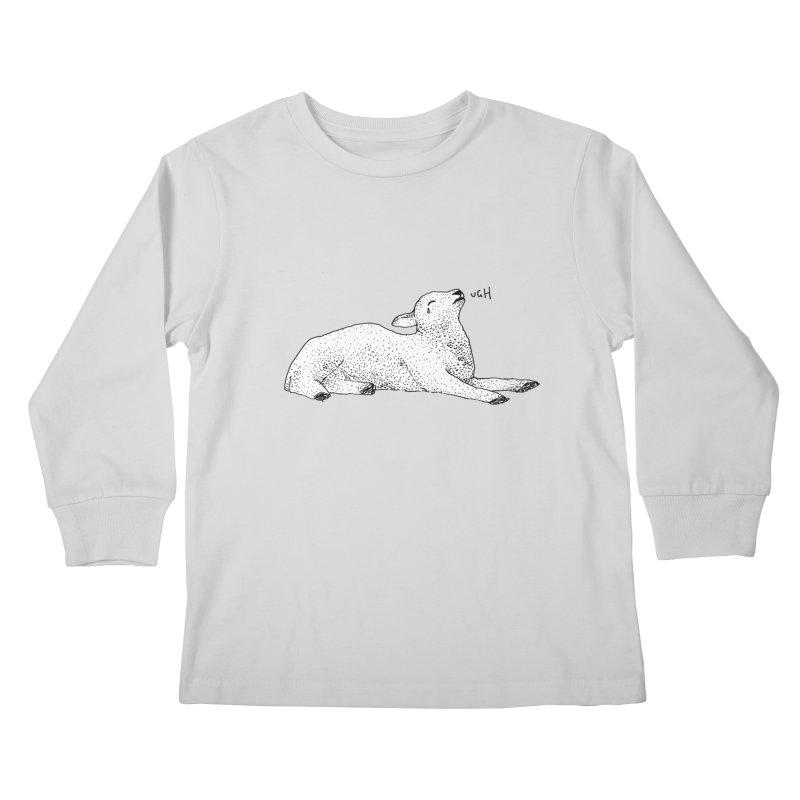 Exasperated Lamb Kids Longsleeve T-Shirt by Martina Scott's Shop