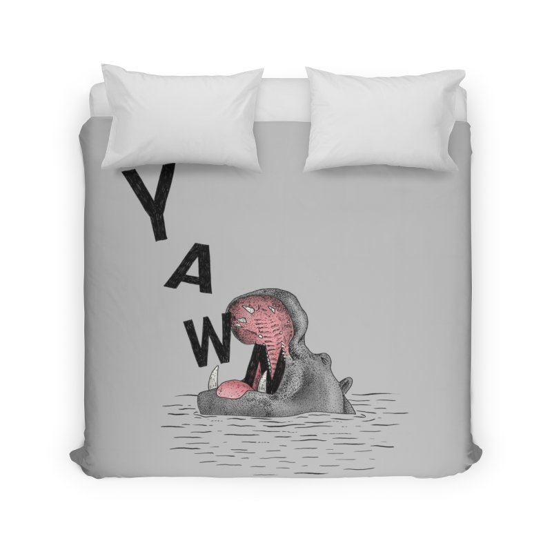 Yawning Hippo Home Duvet by Martina Scott's Shop