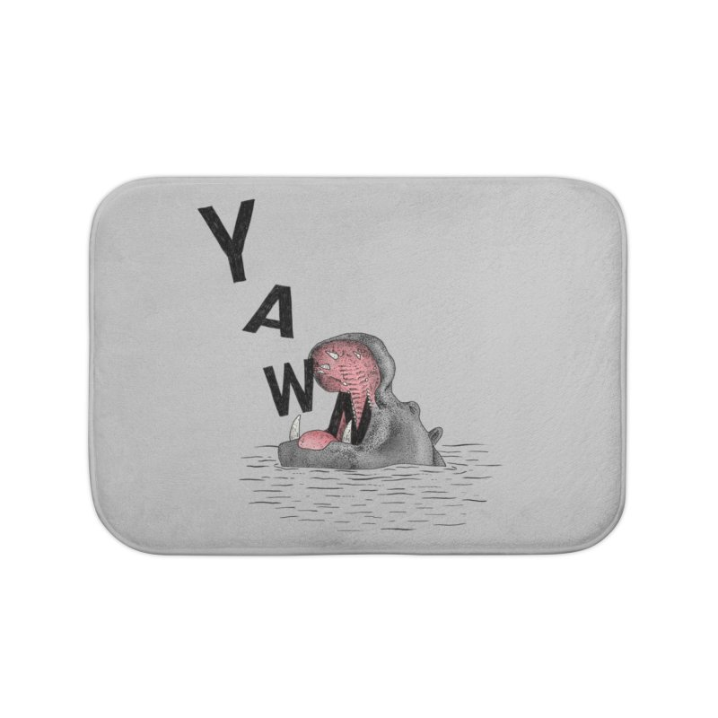Yawning Hippo Home Bath Mat by Martina Scott's Shop