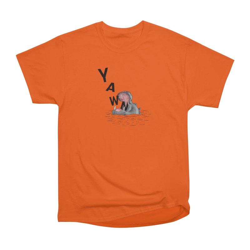 Yawning Hippo Women's Heavyweight Unisex T-Shirt by Martina Scott's Shop
