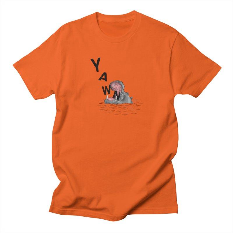 Yawning Hippo Men's Regular T-Shirt by Martina Scott's Shop