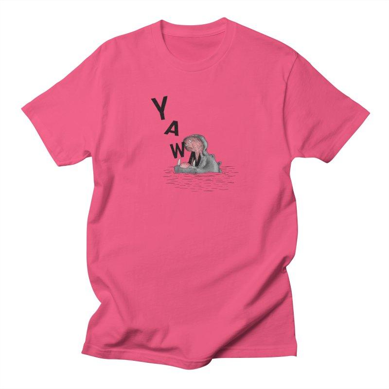 Yawning Hippo Men's T-Shirt by Martina Scott's Shop