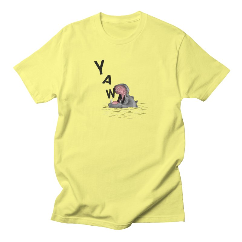 Yawning Hippo Women's Regular Unisex T-Shirt by Martina Scott's Shop