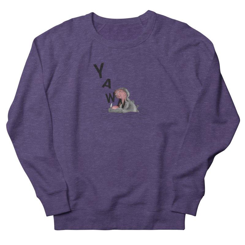Yawning Hippo Men's French Terry Sweatshirt by Martina Scott's Shop