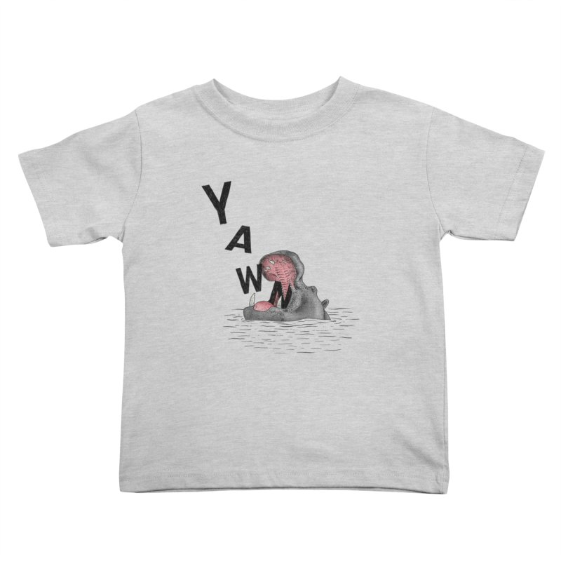 Yawning Hippo Kids Toddler T-Shirt by Martina Scott's Shop