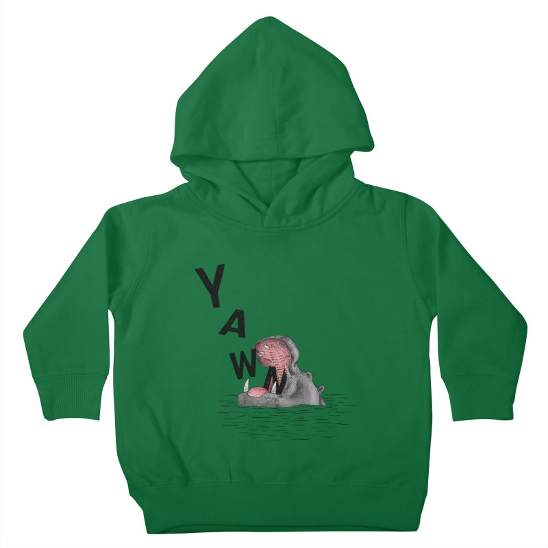 Yawning Hippo Kids Toddler Pullover Hoody by Martina Scott's Shop