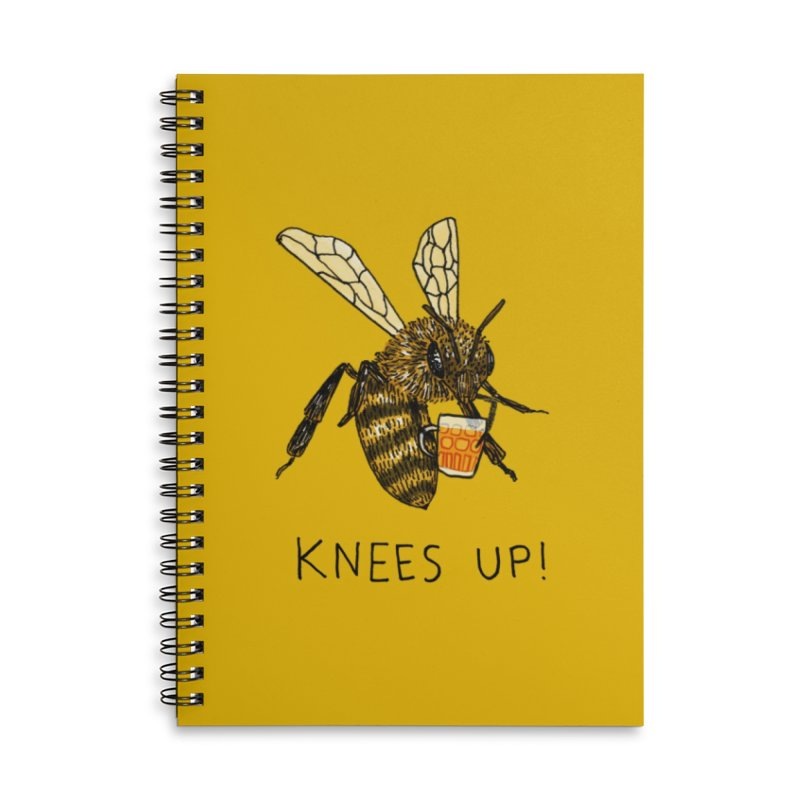 (Bees) Knees up Accessories Lined Spiral Notebook by Martina Scott's Shop