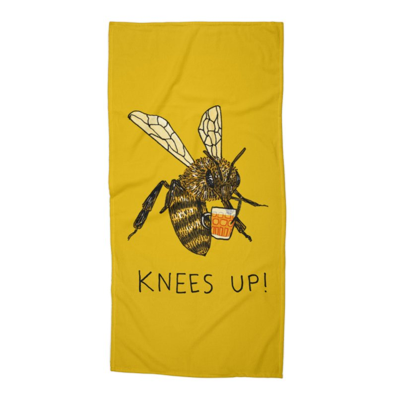 (Bees) Knees up Accessories Beach Towel by Martina Scott's Shop