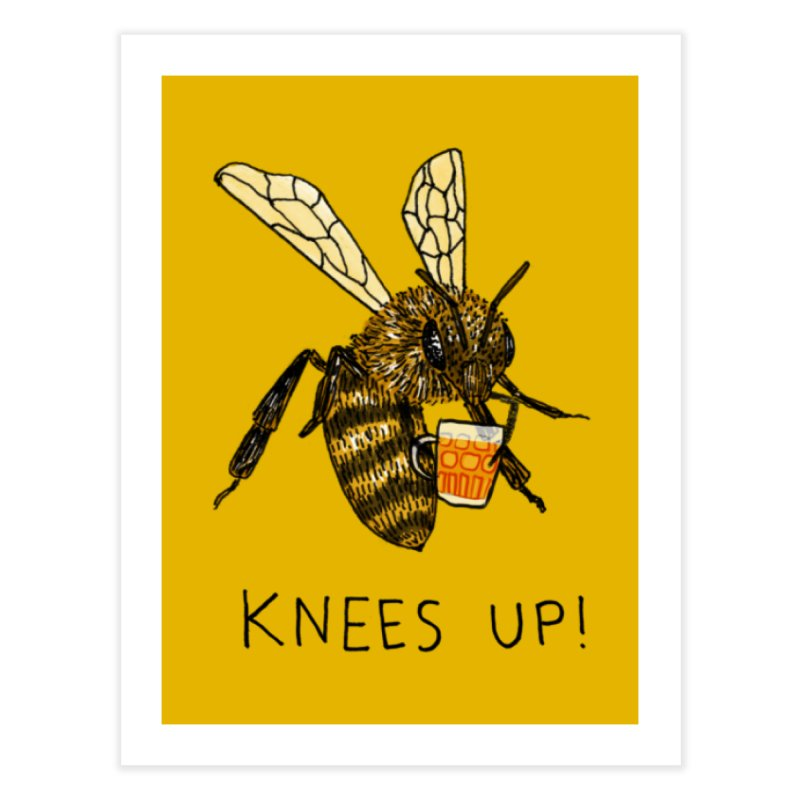 (Bees) Knees up Home Fine Art Print by Martina Scott's Shop
