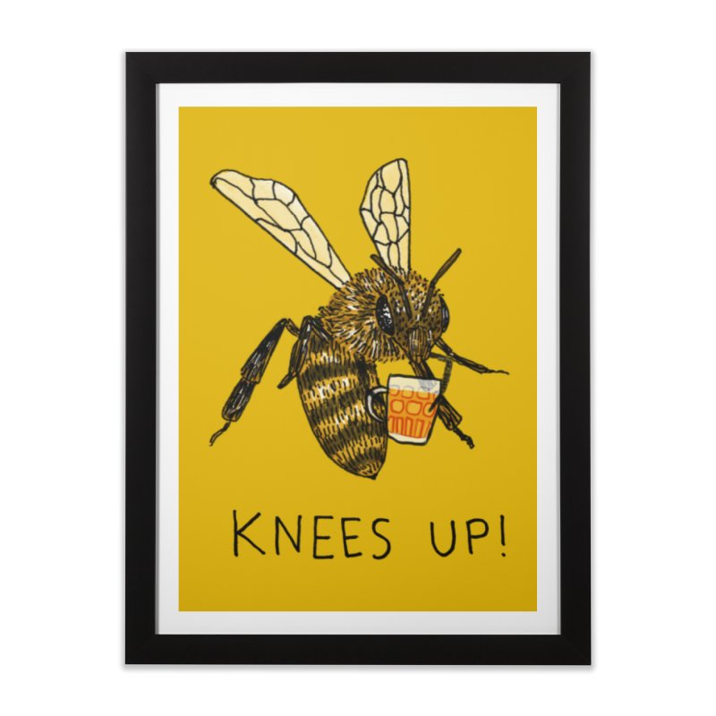 (Bees) Knees up Home Framed Fine Art Print by Martina Scott's Shop
