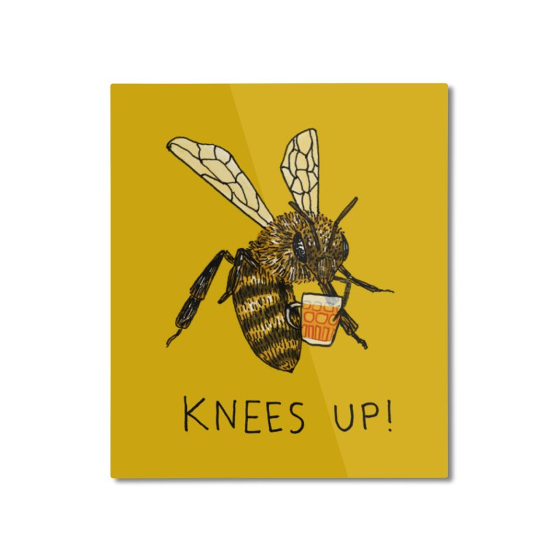 (Bees) Knees up Home Mounted Aluminum Print by Martina Scott's Shop