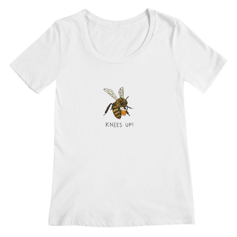 (Bees) Knees up Women's Regular Scoop Neck by Martina Scott's Shop