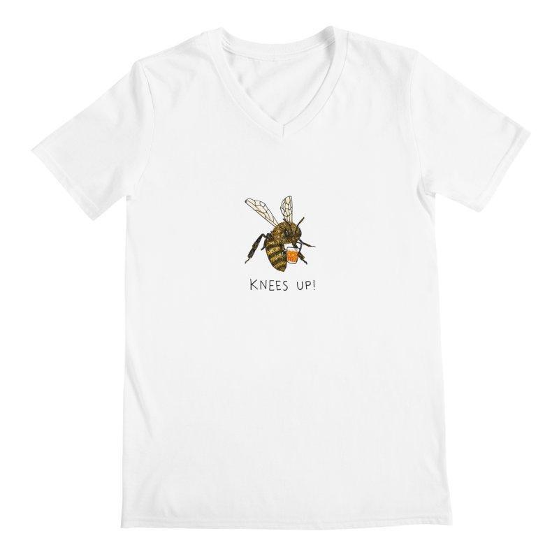 (Bees) Knees up Men's V-Neck by Martina Scott's Shop