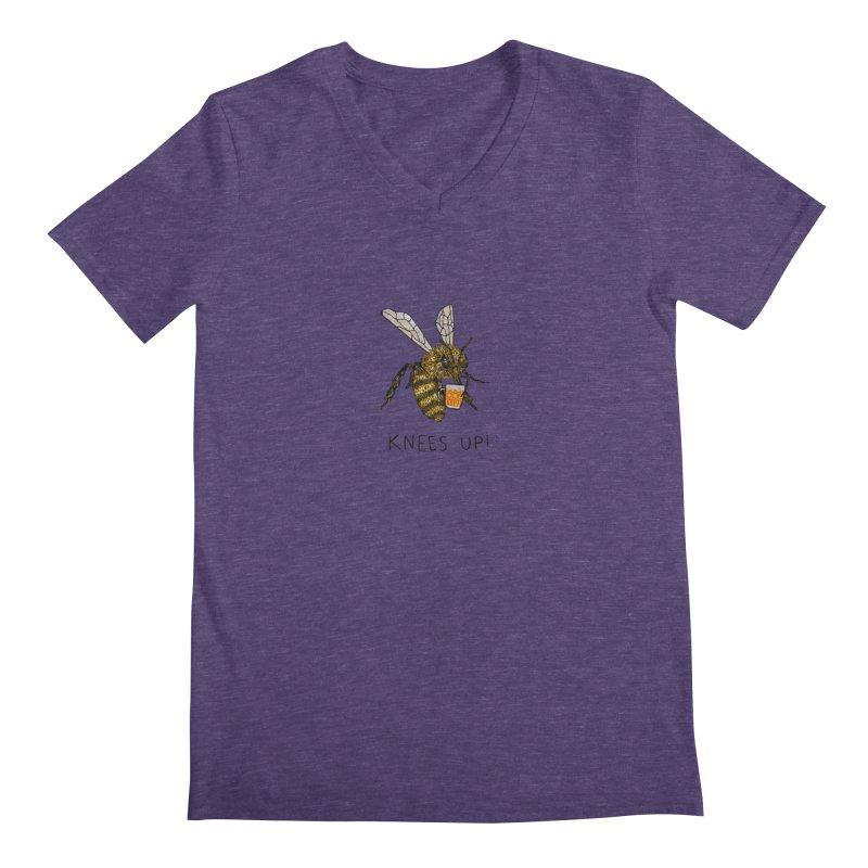 (Bees) Knees up Men's Regular V-Neck by Martina Scott's Shop