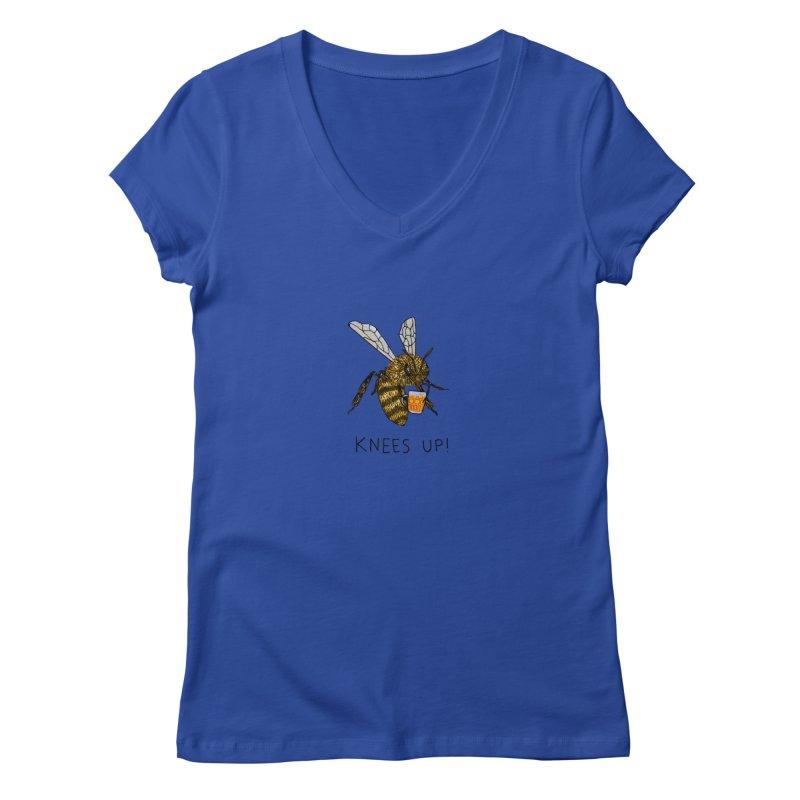 (Bees) Knees up Women's Regular V-Neck by Martina Scott's Shop