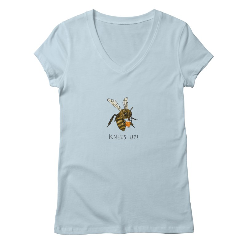 (Bees) Knees up Women's V-Neck by Martina Scott's Shop