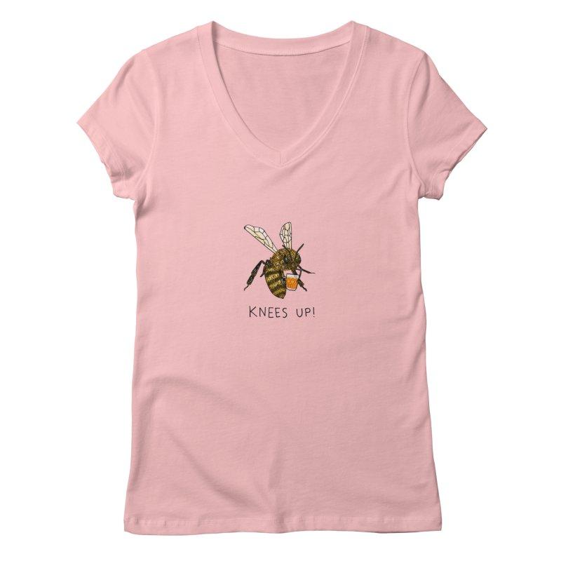 (Bees) Knees up Women's V-Neck by Martina Scott's Shop