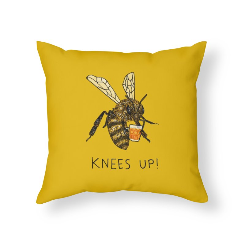 (Bees) Knees up Home Throw Pillow by Martina Scott's Shop