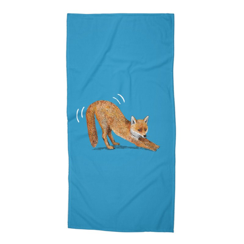 Foxy Fox Accessories Beach Towel by Martina Scott's Shop