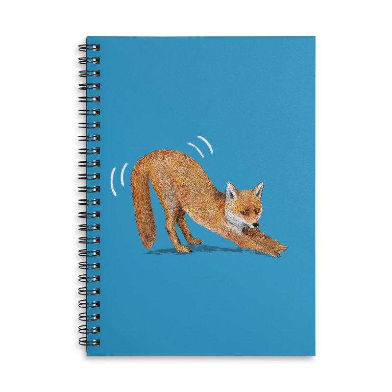 Foxy Fox Accessories Lined Spiral Notebook by Martina Scott's Shop