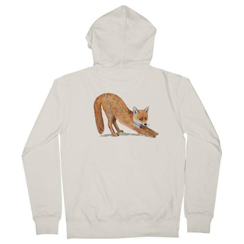 Foxy Fox Men's Zip-Up Hoody by Martina Scott's Shop