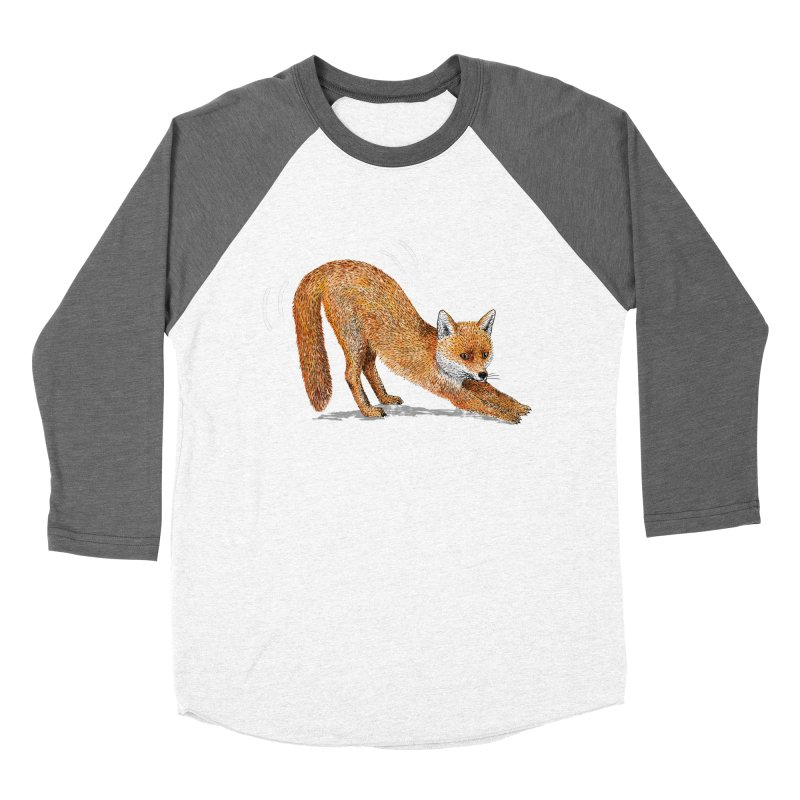 Foxy Fox Men's Baseball Triblend T-Shirt by Martina Scott's Shop
