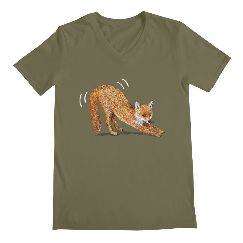 Foxy Fox Men's V-Neck by Martina Scott's Shop