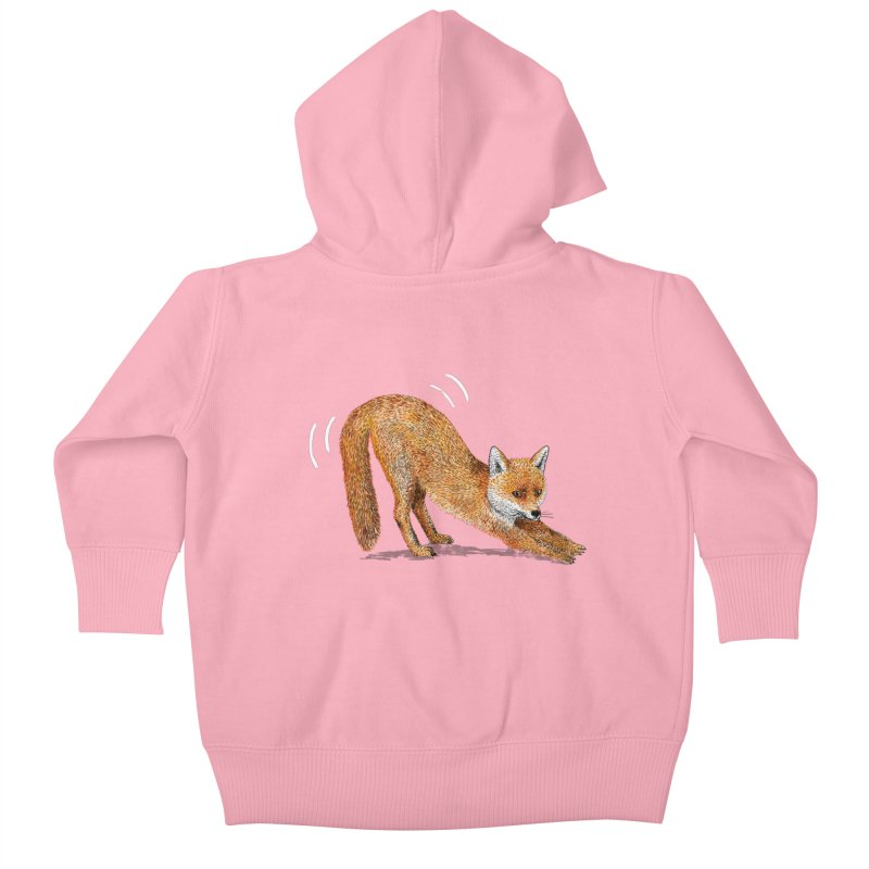 Foxy Fox Kids Baby Zip-Up Hoody by Martina Scott's Shop
