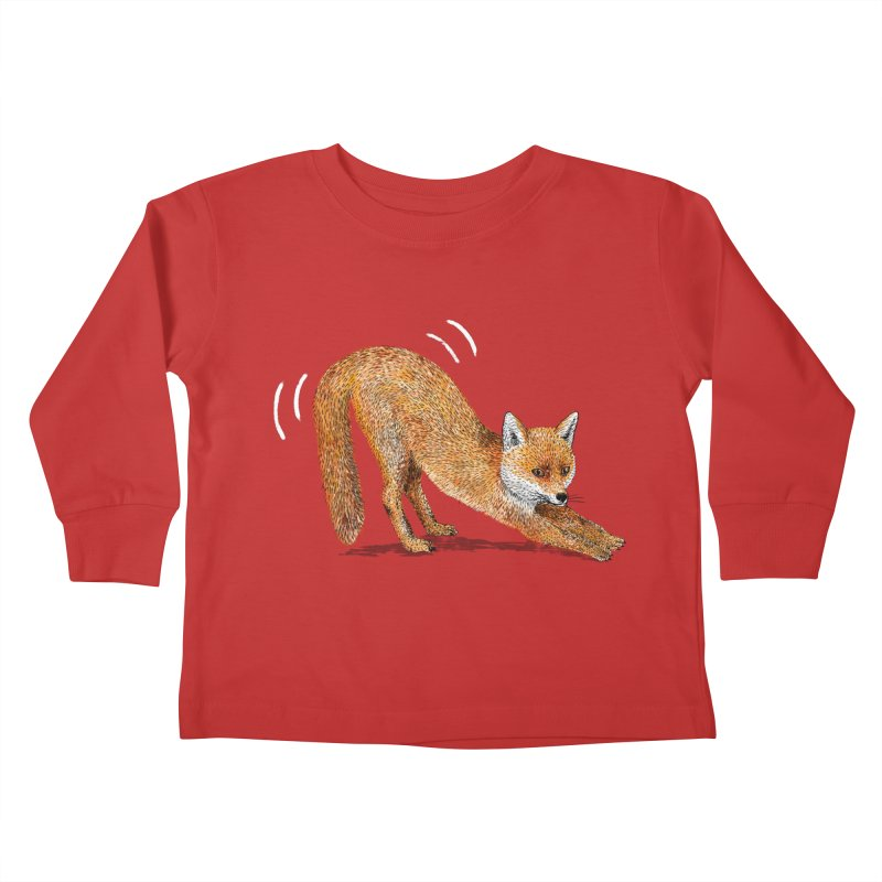 Foxy Fox Kids Toddler Longsleeve T-Shirt by Martina Scott's Shop