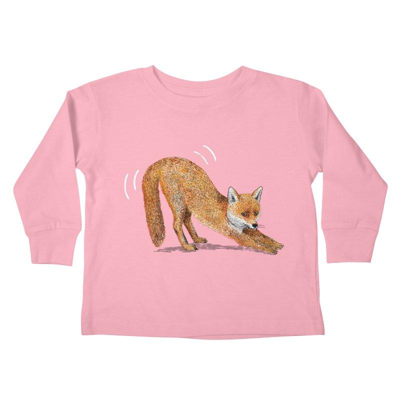 Foxy Fox Kids Toddler Longsleeve T-Shirt by Martina Scott's Shop