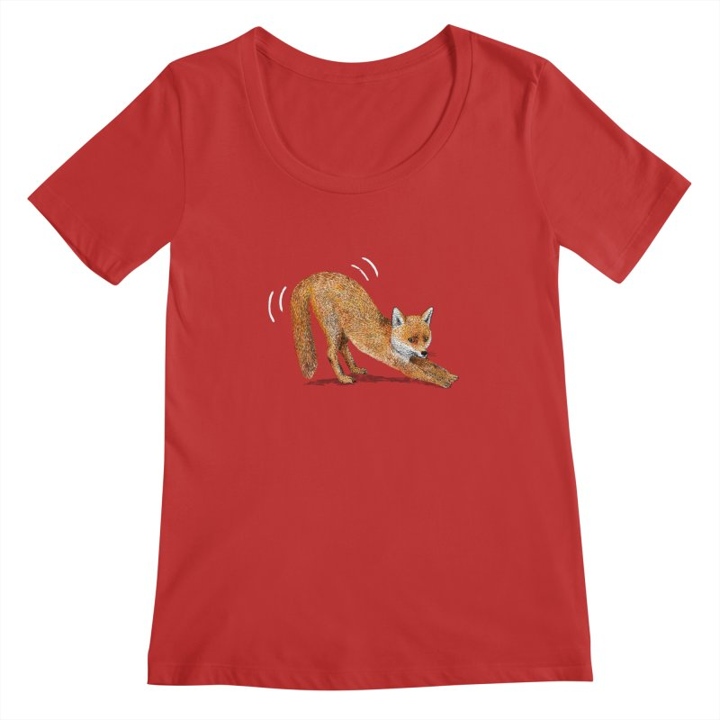 Foxy Fox Women's Regular Scoop Neck by Martina Scott's Shop