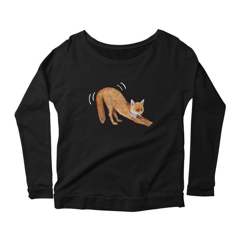 Foxy Fox Women's Longsleeve Scoopneck  by Martina Scott's Shop