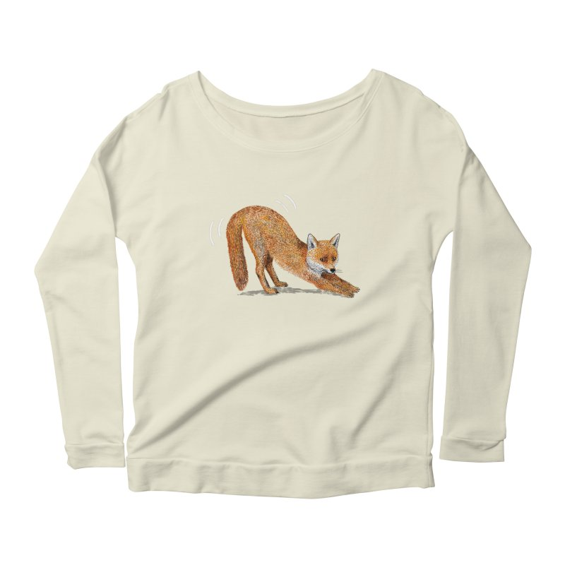 Foxy Fox Women's Scoop Neck Longsleeve T-Shirt by Martina Scott's Shop