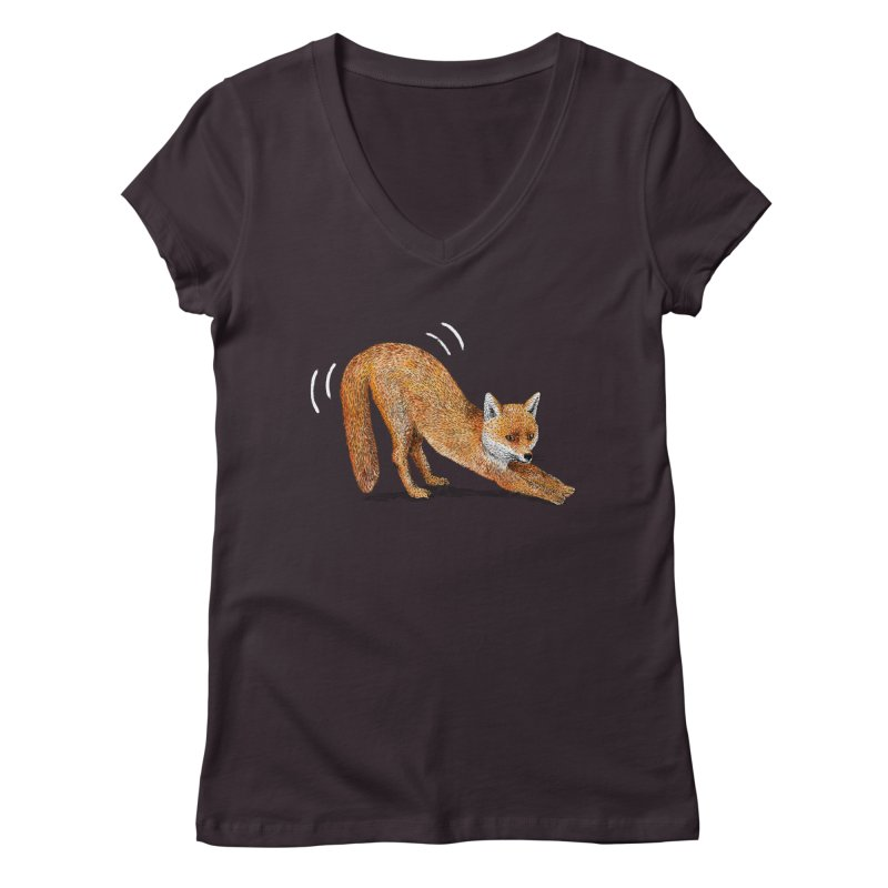 Foxy Fox Women's V-Neck by Martina Scott's Shop