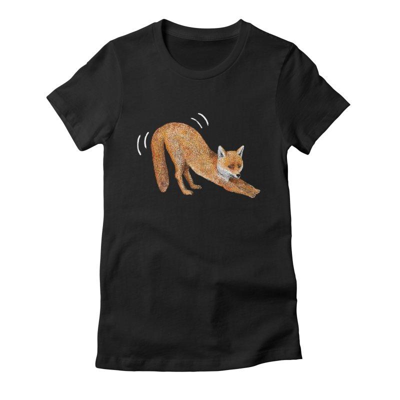 Foxy Fox Women's Fitted T-Shirt by Martina Scott's Shop